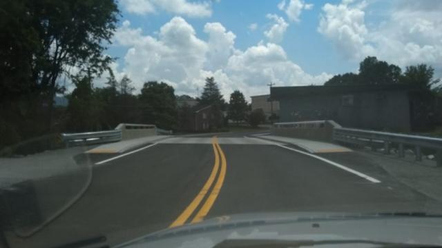 The Benton Bridge is up Ya'll