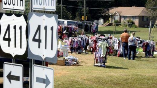 Highway 411 Yard Sale OPENS TOMORROW