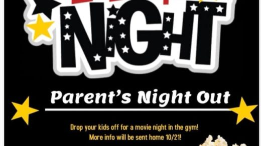 10/25 Benton Elementary School Parents Night Out Movie Night