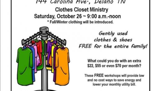 10/26 Delano Baptist Church SWAP Shop Clothes Closest Ministry