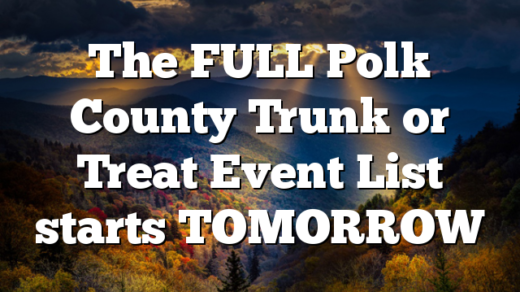 The FULL Polk County Trunk or Treat Event List starts TOMORROW
