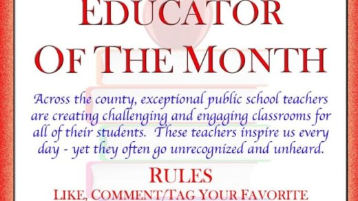 1/30 Higgins Funeral Home of Benton Teacher of The Month Nomination Deadline