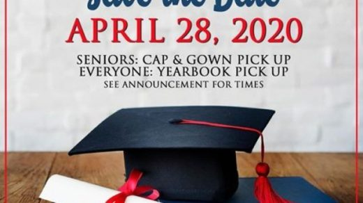 4/28 PCHS Cap & Gown and Yearbook Pickup