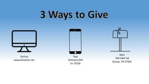 Shiloh Baptist Church Ocoee, TN Offers Ways to Give During COVID-19 Pandemic