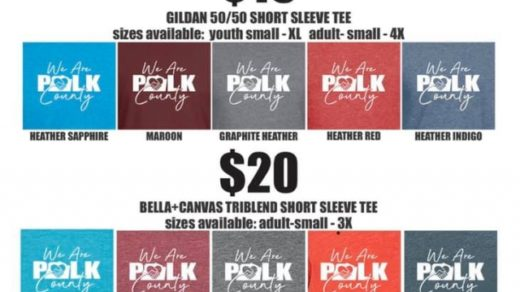 WE ARE POLK COUNTY T-Shirt Sale at Trophies & More Benton, TN