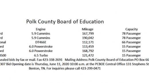6/11 Polk County Board of Education Bus Auction