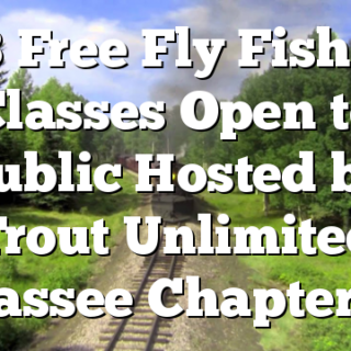 8/8 Free Fly Fishing Classes Open to Public Hosted by Trout Unlimited Hiwassee Chapter 640