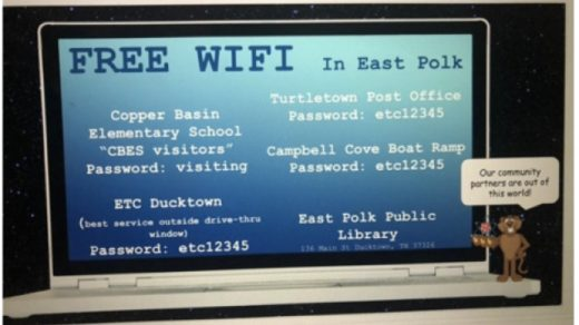 Free WIFI in East Polk for Students