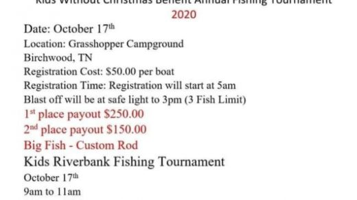10/17 Wide Open Ministries Kids Without Christmas Benefit Annual Fishing Tournament
