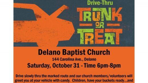 10/31 Delano Baptist Church Drive Thru Trunk or Treat