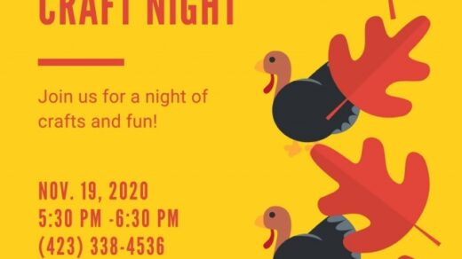 11/19 West Polk Public Library Thanksgiving Craft Night