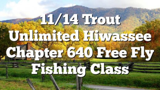 11/14 Trout Unlimited Hiwassee Chapter 640 Free Fly Fishing Class