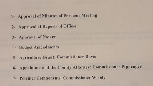 11/19 County Commission Meeting Benton Courthouse