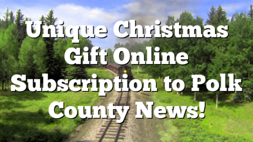 Unique Christmas Gift Online Subscription to Polk County News!
