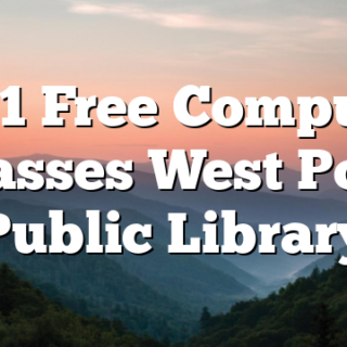 2/11 Free Computer Classes West Polk Public Library