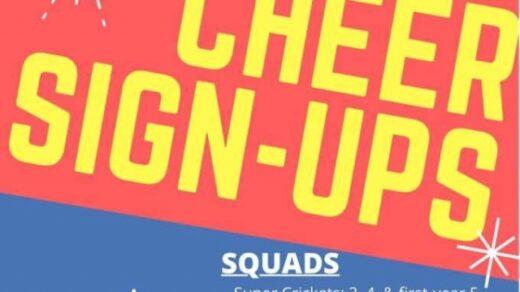 2/27 Polk County Youth Cheerleaders Sign-Ups