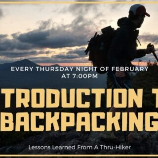 2/4 An Introduction to Backpacking (Class 1) Hiwassee Ocoee State Park Delano, TN