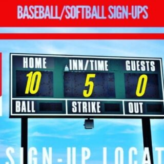 Baseball/Softball Sign-ups Etowah, TN