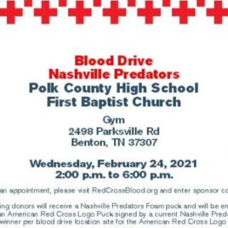 2/24 American Red Cross Blood Drive PCHS First Baptist Church Benton
