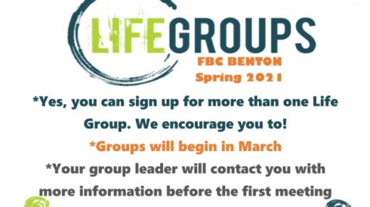 3/1 Life Groups Sign-up Deadline FBC Benton, TN