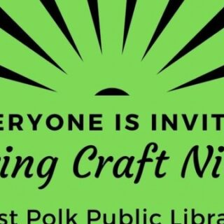 3/16 West Polk Public Library Spring Craft Night