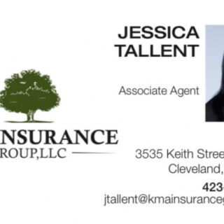 Call Jessica Tallent for Insurance Quote with KMA Insurance Group, LLC