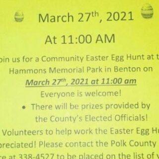3/19 Community Easter Egg Hunt Donation DEADLINE