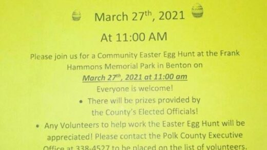 3/27 Community Easter Egg Hunt Frank Hammons Memorial Park