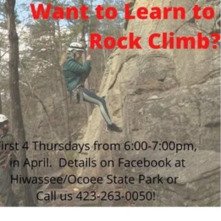4/1 Learn to Climb in April Event by Hiwassee Ocoee State Park