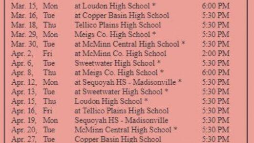 4/27 Polk County High School Baseball Game