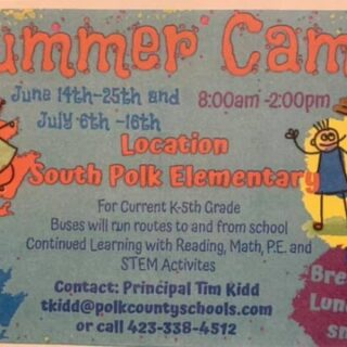 South Polk Elementary Summer Camp Spots Available