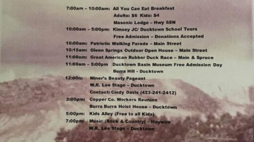 6/25-26 46th Annual Miner's Homecoming Ducktown, TN