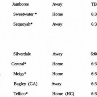 9/30 Chilhowee Middle School Bobcat Football Home Game