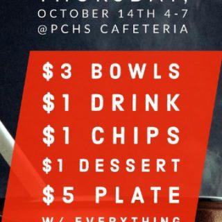 10/14 PCHS FFA Chili Supper Fundraiser Benton, TN
